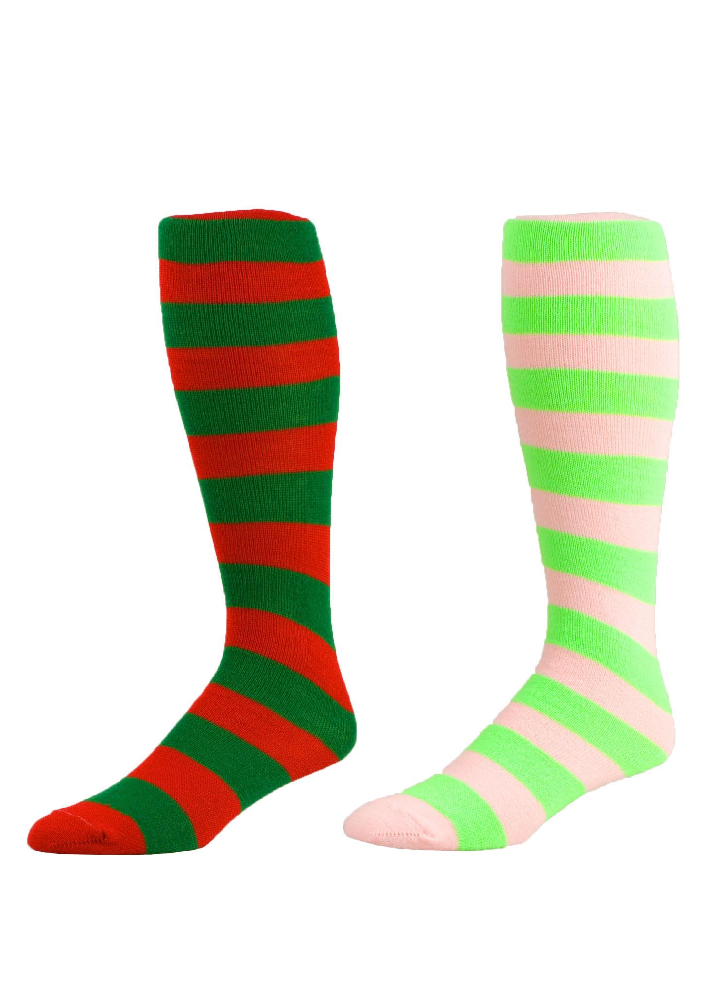 cheer dance_custom stripes knee high dance socks
